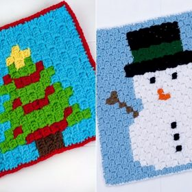 Colorful Christmas Graphs Free Crochet Pattern