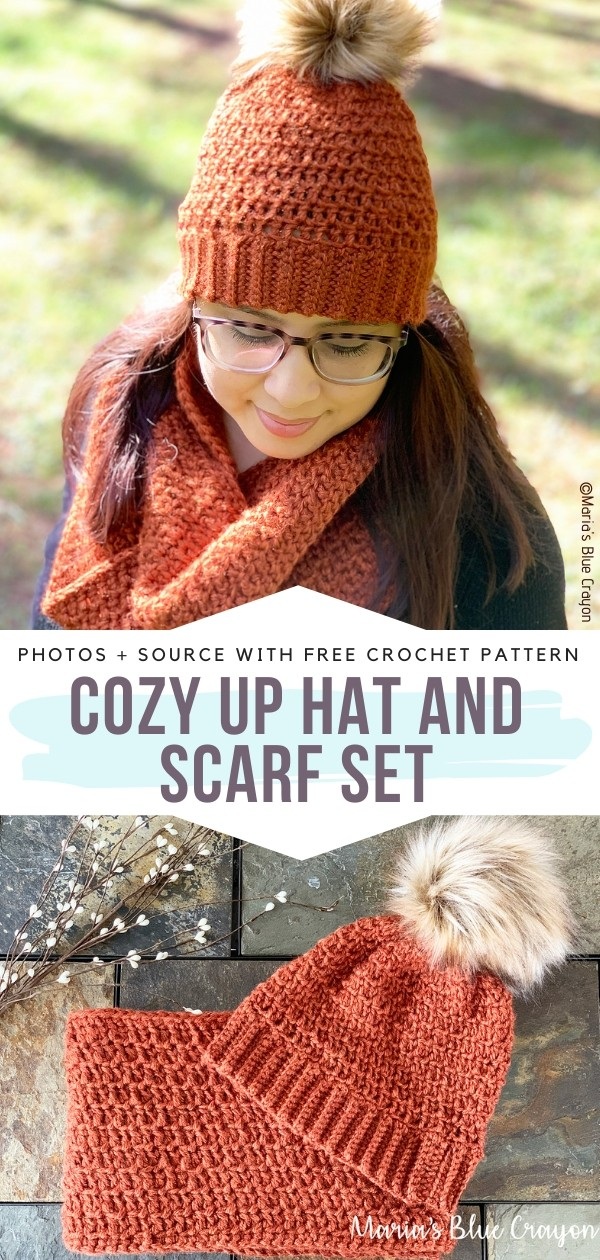 Cozy Up Hat and Scarf Set Free Crochet Pattern