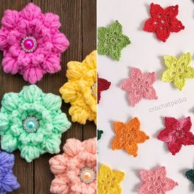 Lovely Crochet Flowers Free Patterns