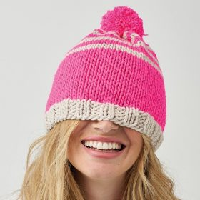 Great Color Block Knitted Hats Free Patterns