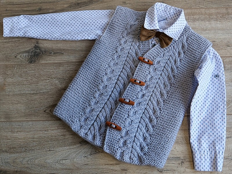 Elegant Little Men's Vests Free Knitting Patterns-feature