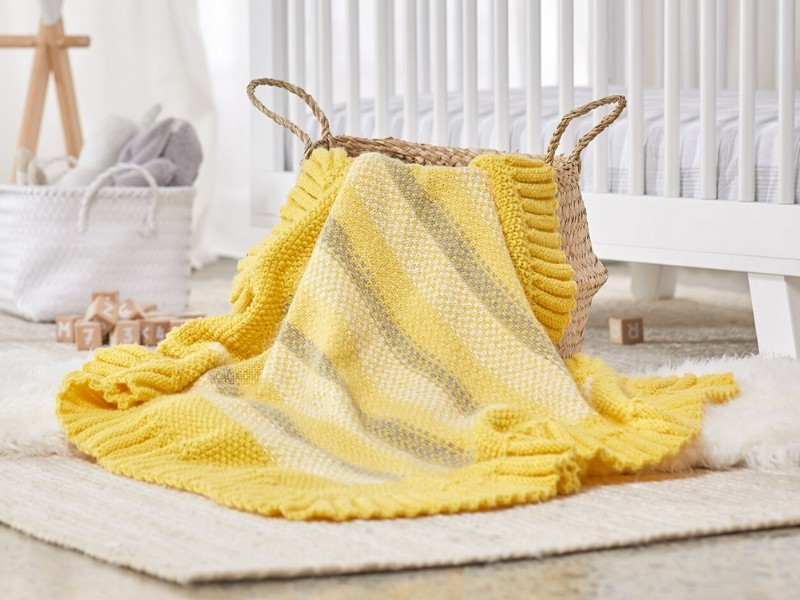 Embrace the Ruffles Baby Blankets Free Knitting Patterns