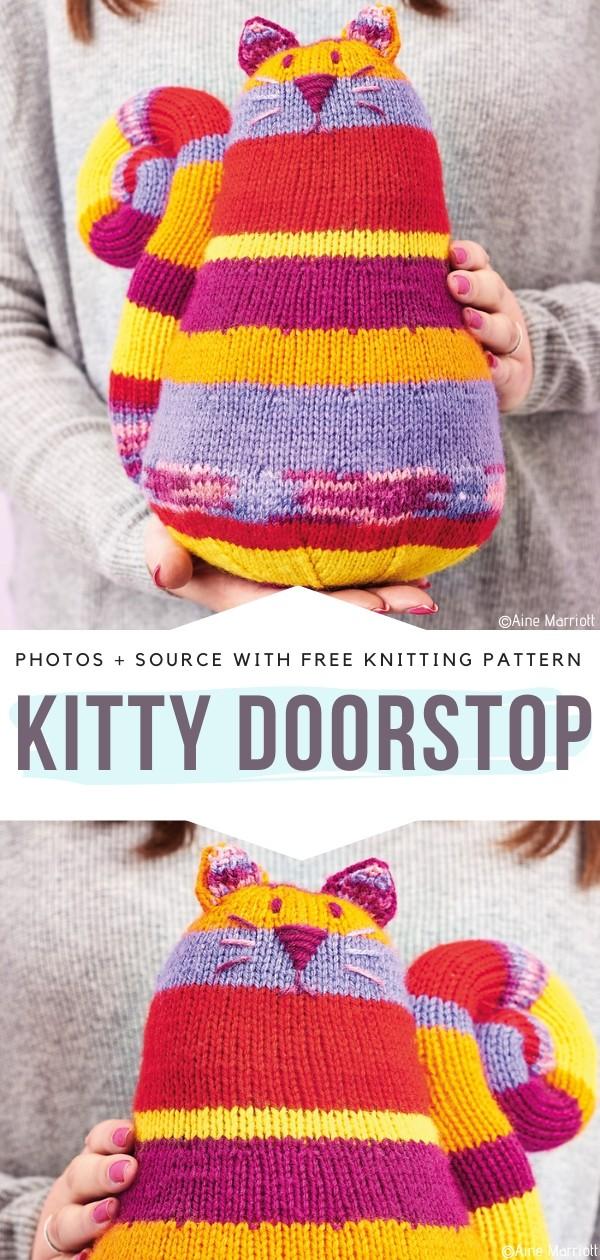 Kitty Doorstop Free Knitting Pattern