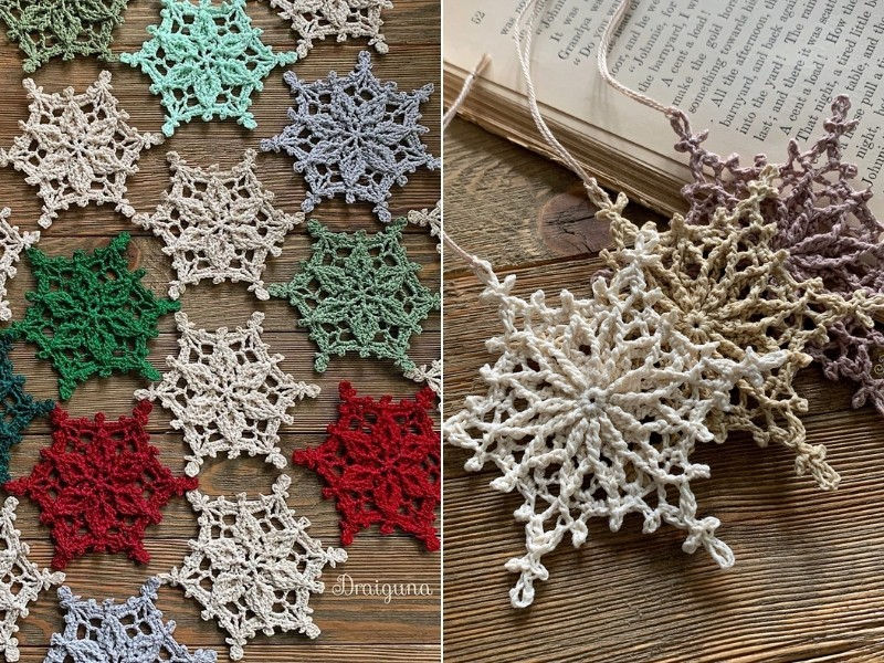 Magical Snowflakes Free Crochet Patterns