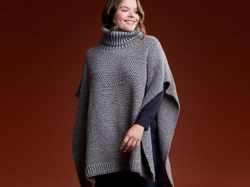 Modern Minimalism Ponchos Free Crochet Patterns