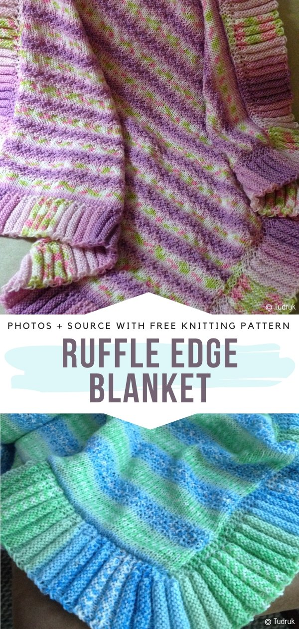 Ruffle Edge Blanket Free Crochet Pattern