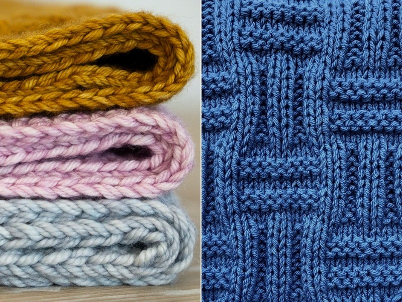 Snuggly Textured Blankets Free Knitting Patterns