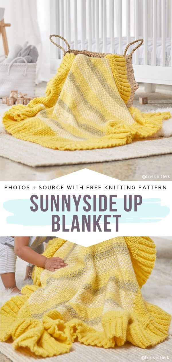 Sunnyside Up Blanket Free Crochet Pattern
