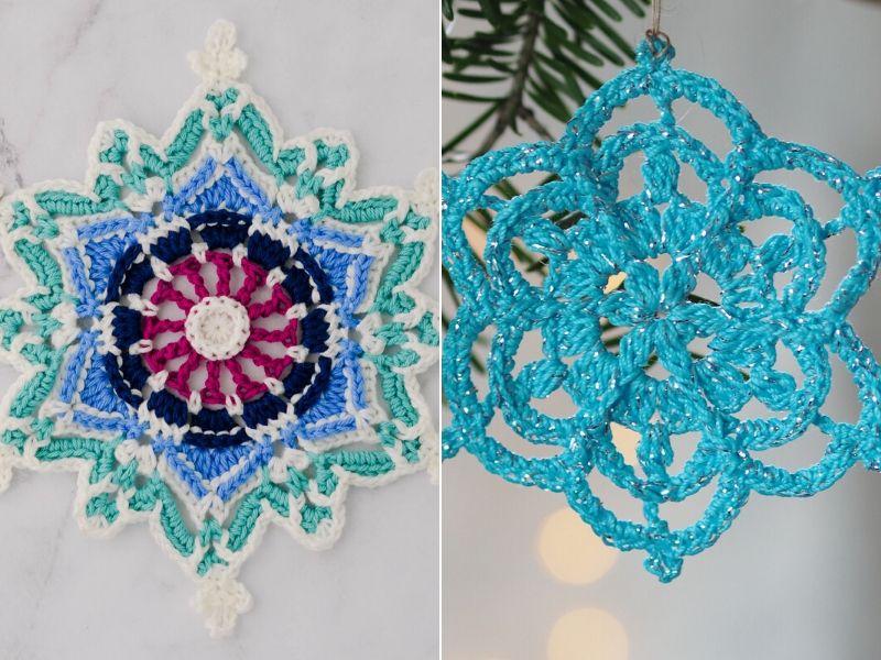 Free Crochet Patterns Beautiful Snowflake Ornaments