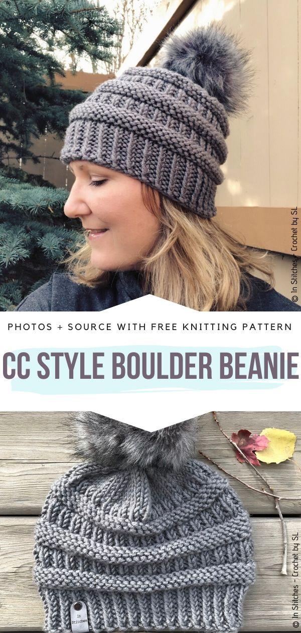 Free Knitting Pattern CC Style Boulder Beanie