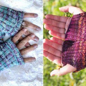 Two Seasons Fingerless Mitts Free Knitting Patterns