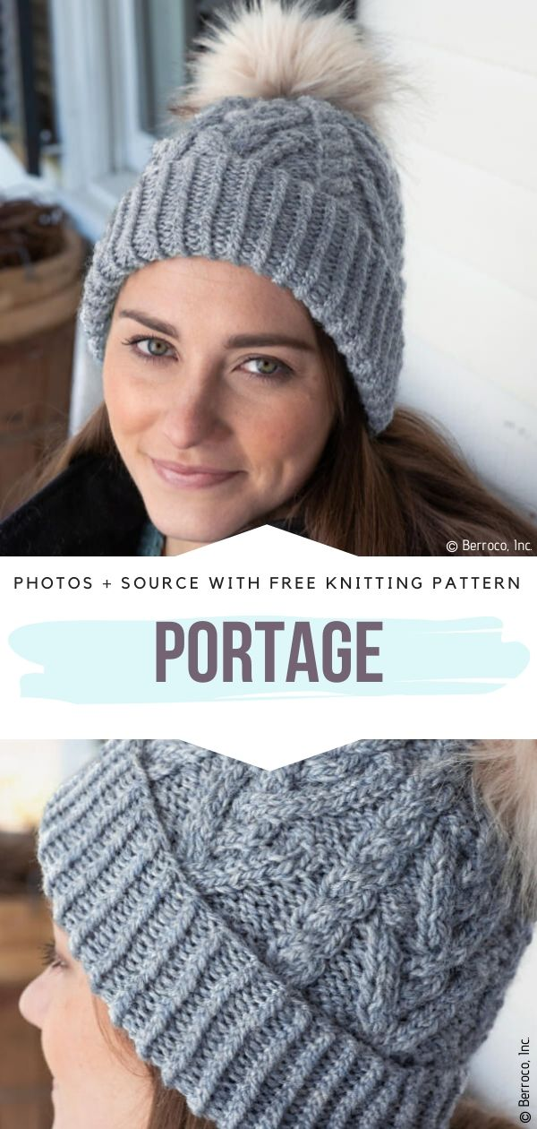 Free Knitting Pattern Portage Beanie