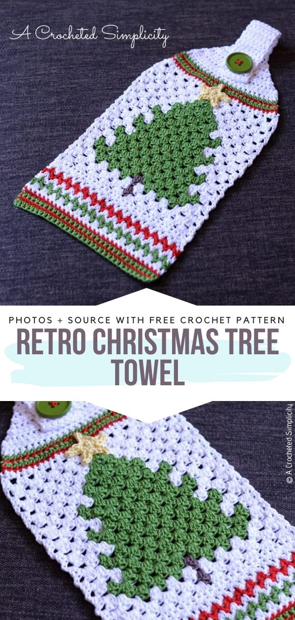 Crochet Christmas Tree Towel
