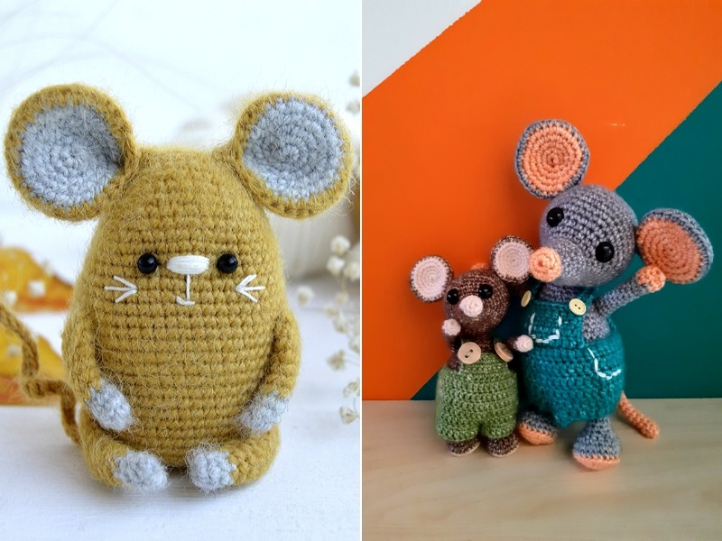 Amgurumi Mice Free Crochet Patterns