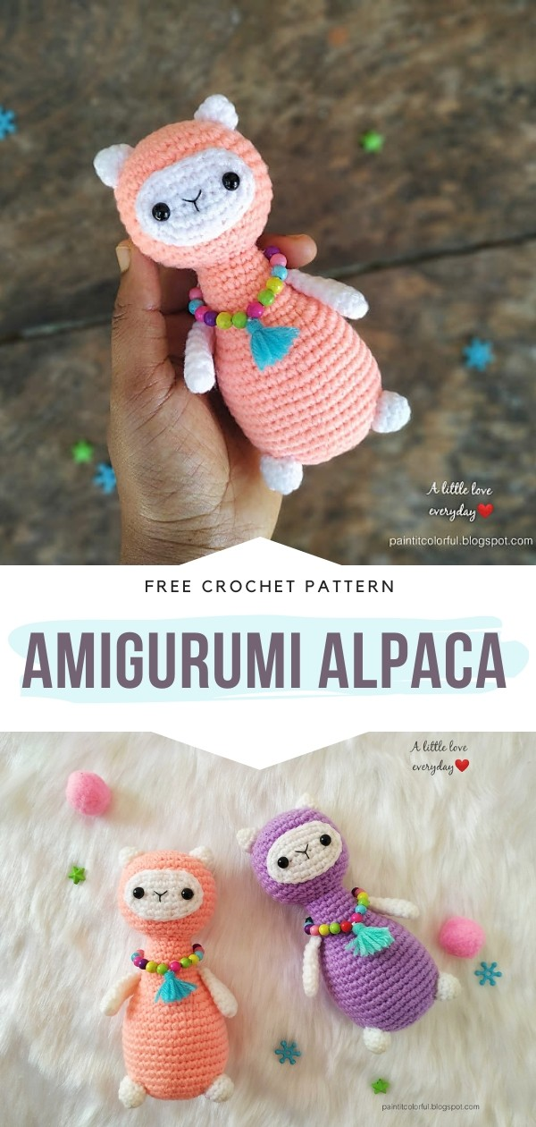 Amigurumi Alpaca Free Crochet Pattern