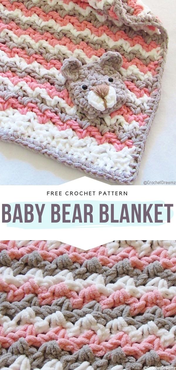Baby Bear Blanket Free Crochet Pattern