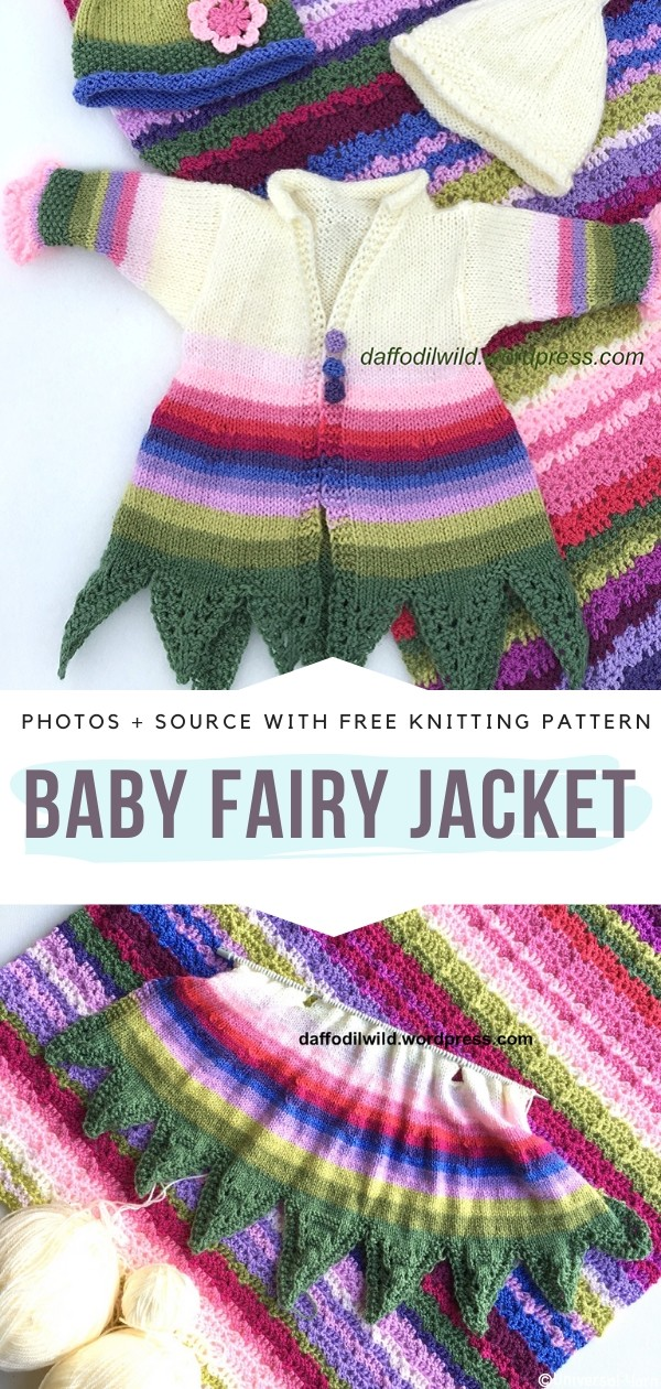Baby Fairy Jacket Free Knitting Pattern
