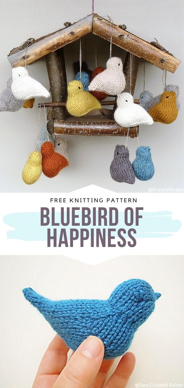 Bluebird of Happiness Free Knitting Pattern