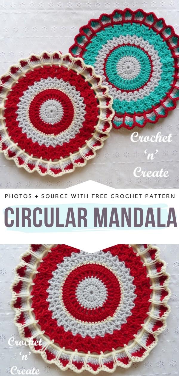 Circular Mandala Free Crochet Pattern