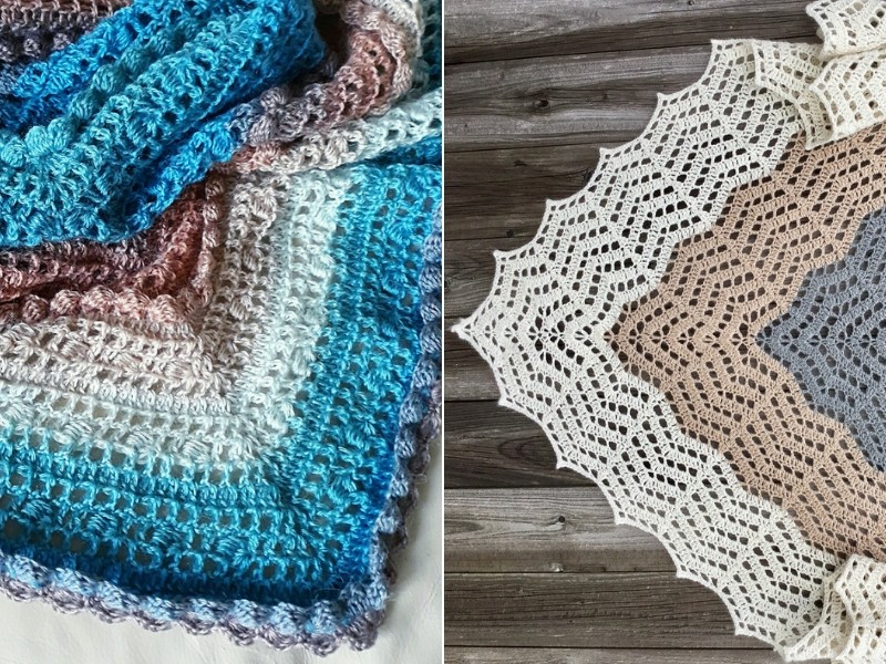 Daydreaming Lady Shawls Free Crochet Patterns