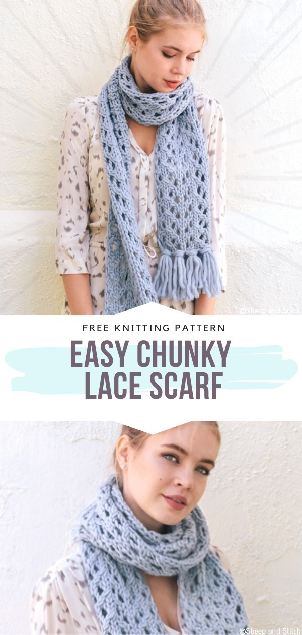 Easy Chunky Lace Scarf