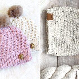 Easy One Skein Beanies Free Crochet Patterns