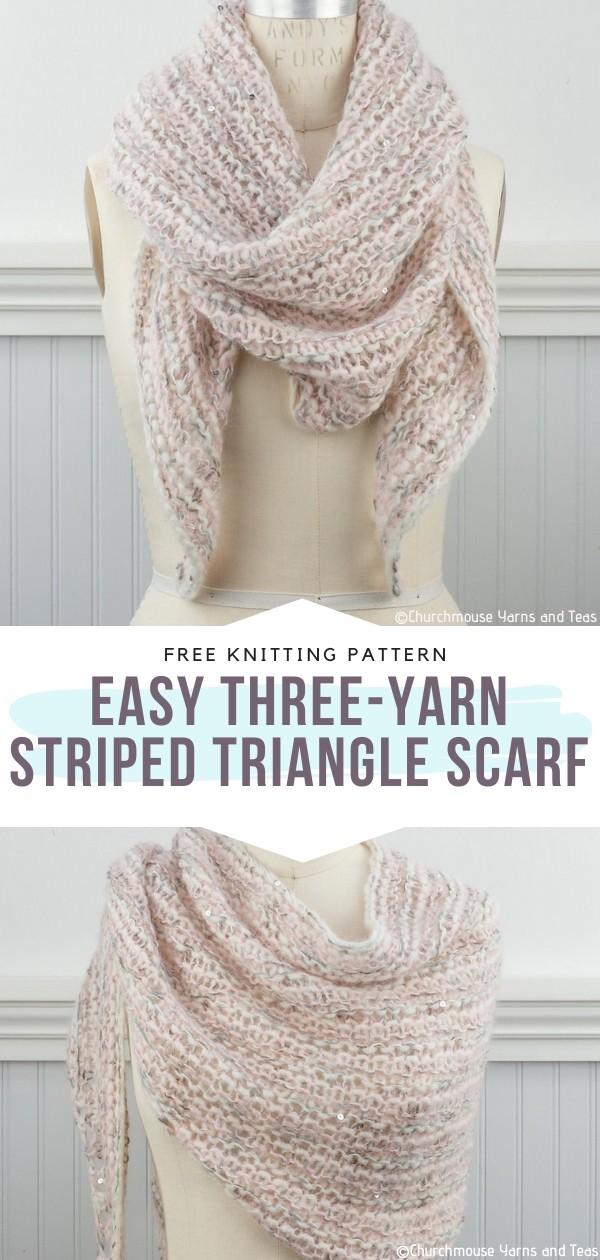 Striped Triangle Scarf