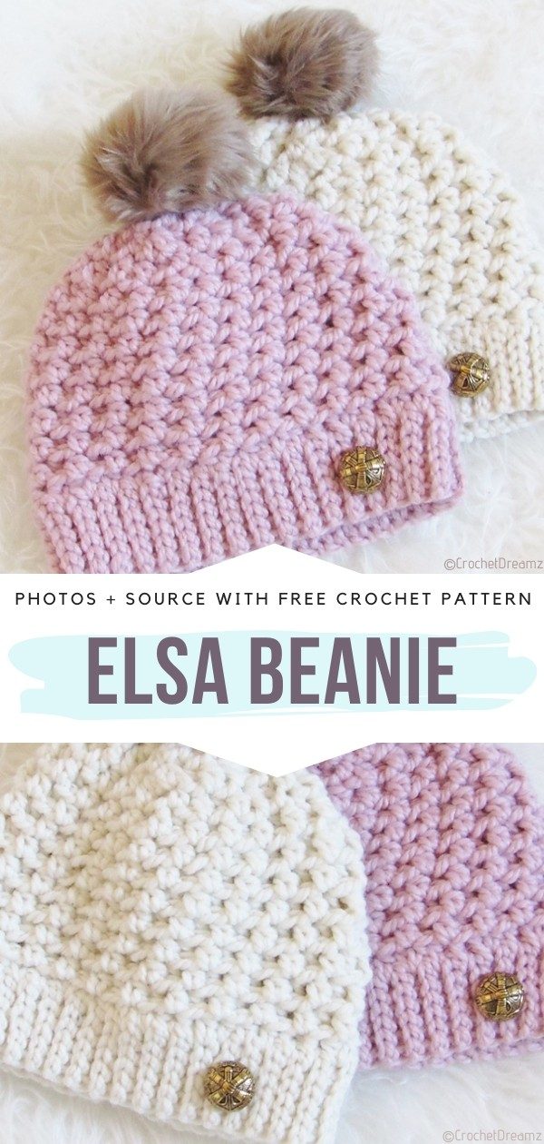 Pink and Beige Beanies