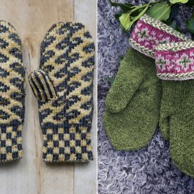 End of December Mittens Free Knitting Patterns