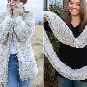 Faux Fur Winter Garment Free Crochet Patterns