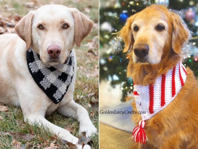 Festive Dog Scarves Free Crochet Patterns