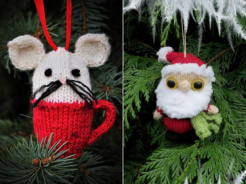 Funny Christmas Ornaments Free Knitting Patterns