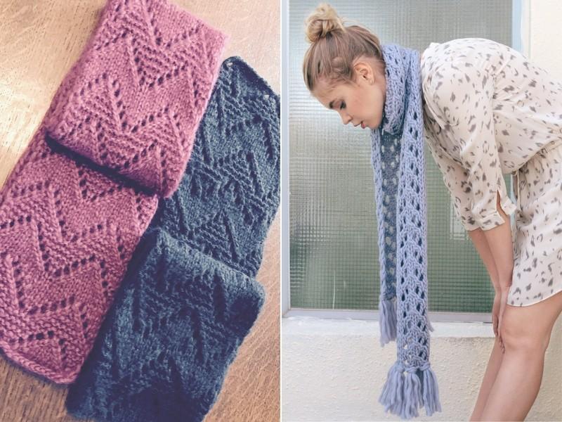 Girly Scarves Free Knitting Patterns