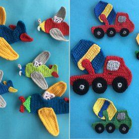 Happy Kids Appliques Free Crochet Patterns