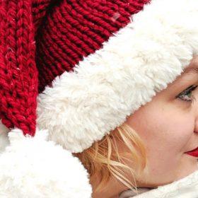 Happy Santa Hats Free Knitting Patterns