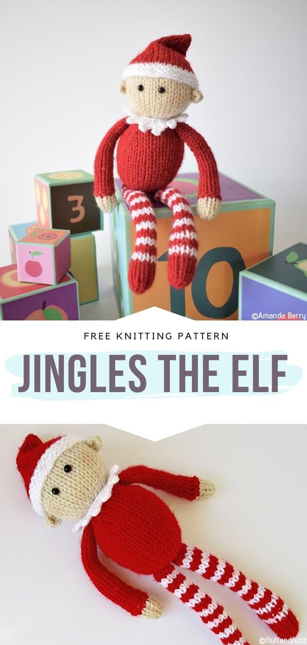 Jingles the Elf Free Knitting Pattern