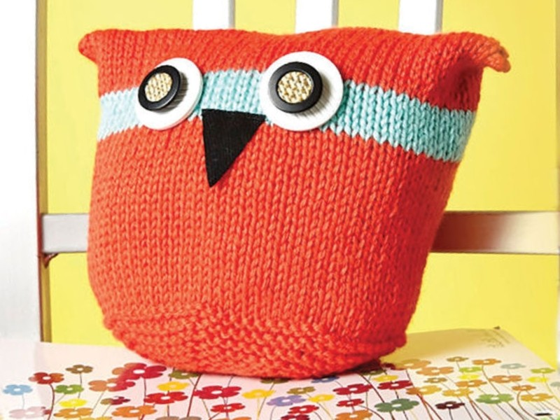 Knitted Owl Pillows Free Patterns