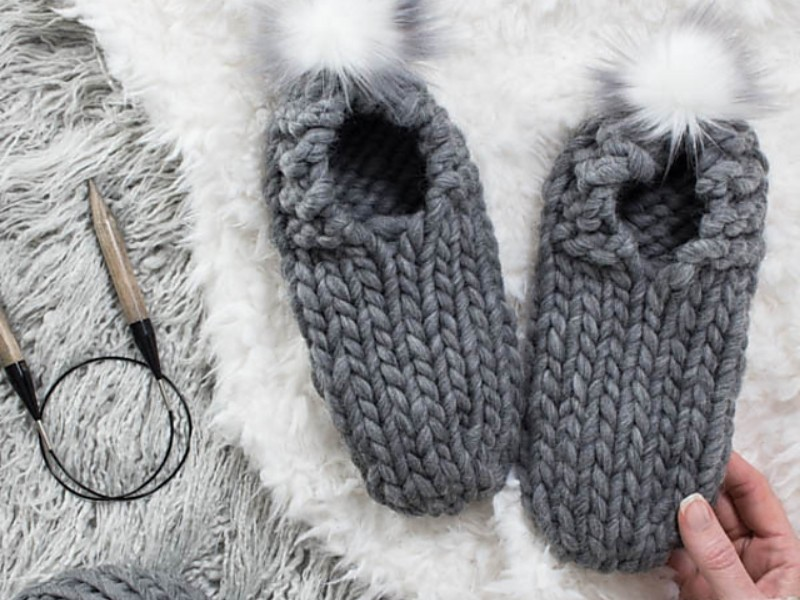Last Minute Gift Slippers Free Knitting Patterns