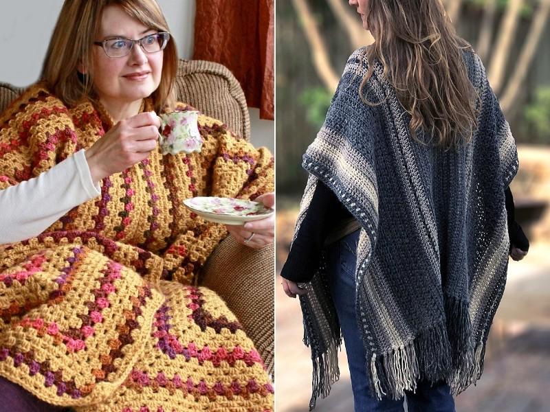 Late Fall Wraps Free Crochet Patterns