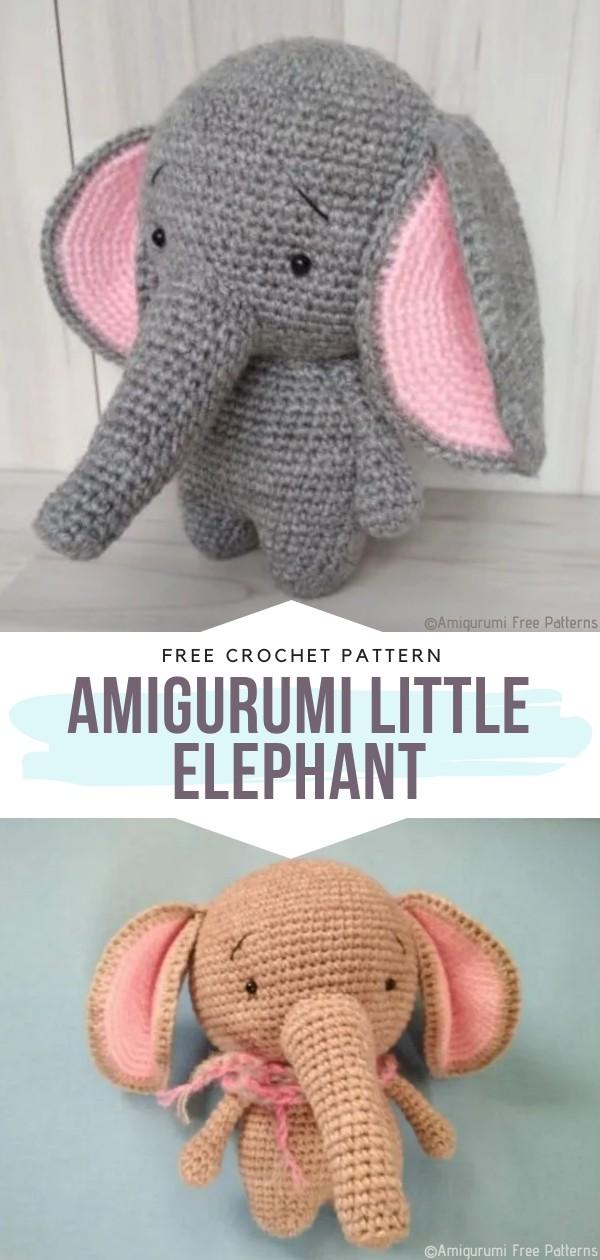 Little Elephant Free Crochet Pattern