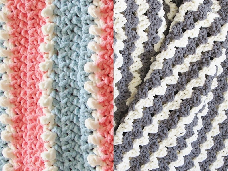 On the Spot Blankets Free Crochet Patterns'