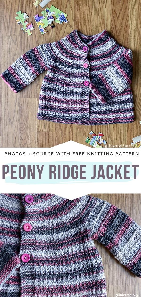 Peony Ridge Jacket Knitting Pattern