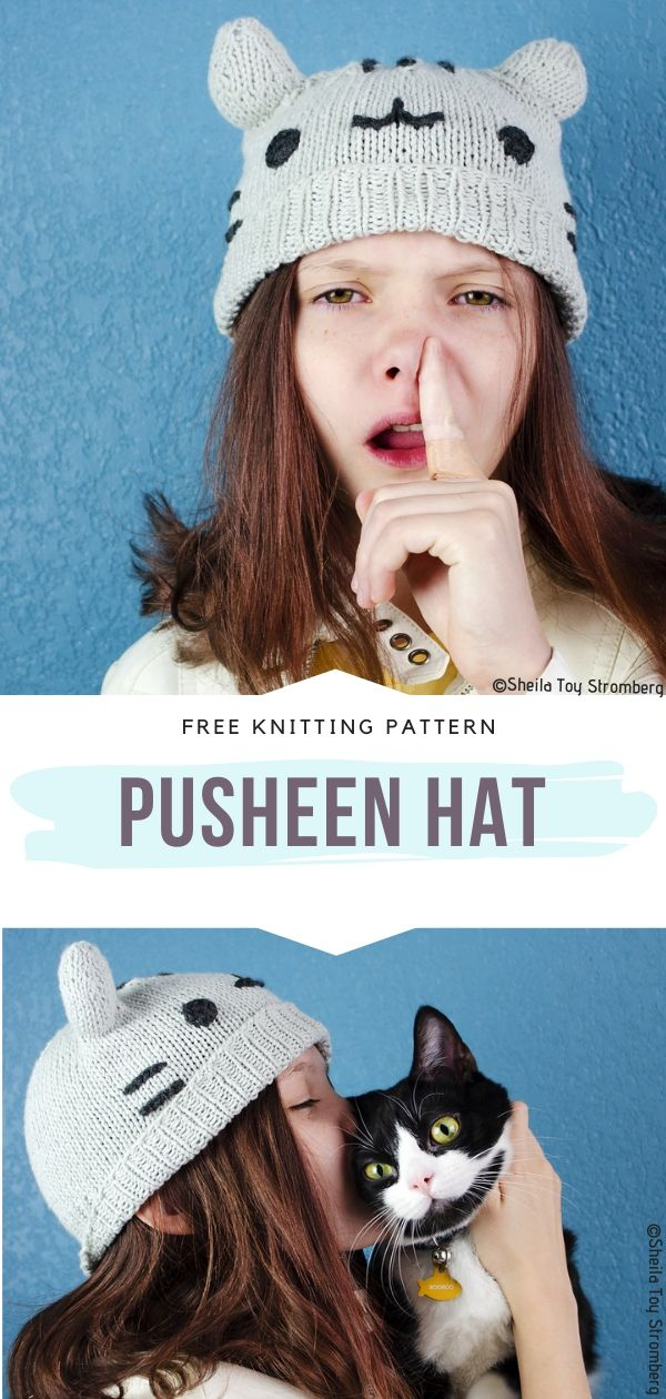 Knitted Pusheen Hat