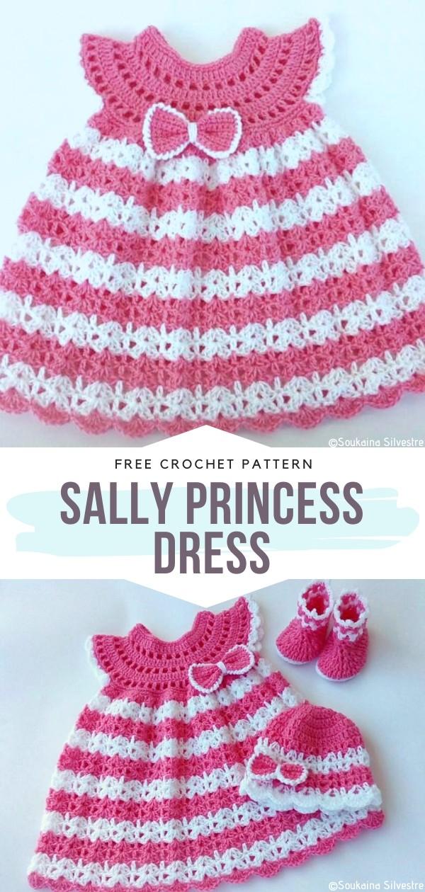 Sally Princess Dress Free Crochet Pattern