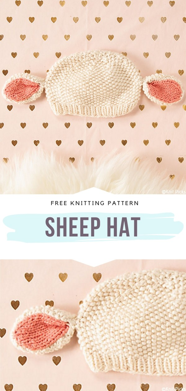 Knitted Sheep Hat