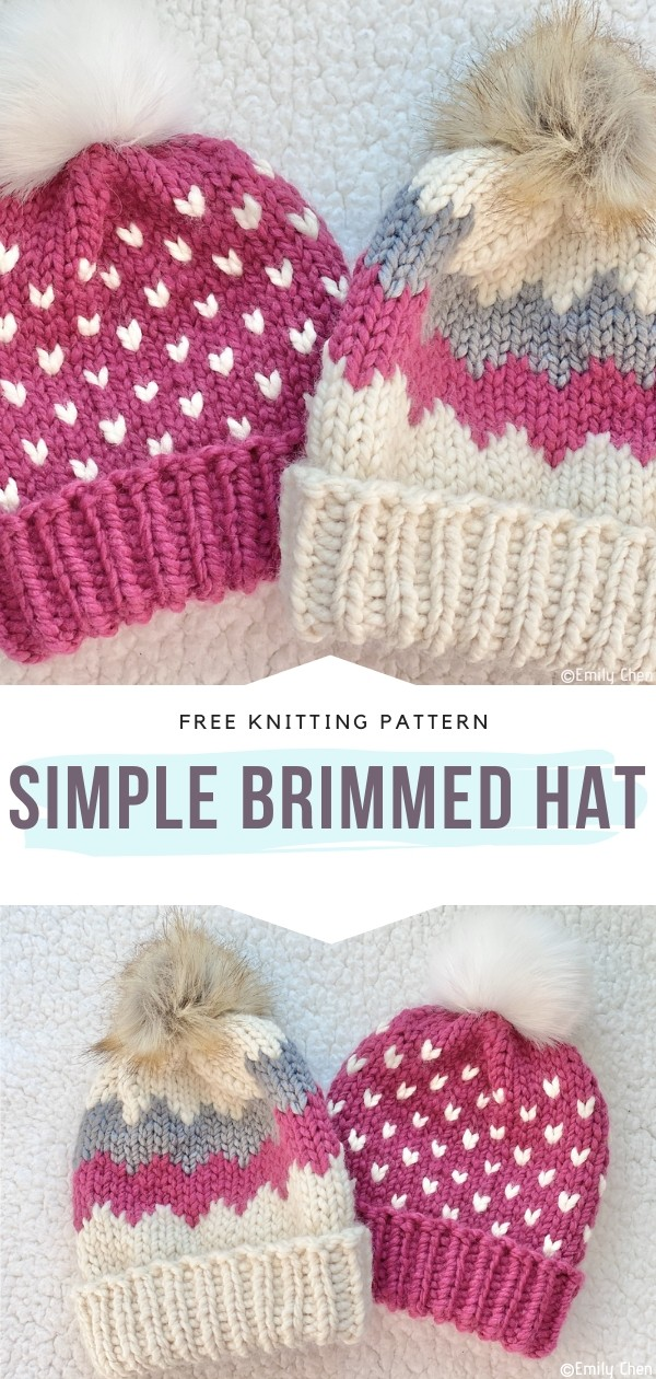 Simple Brimmed Hat