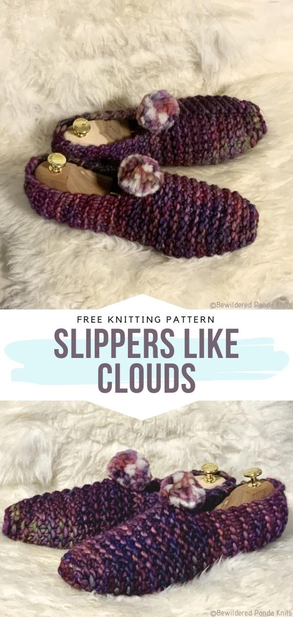 Slippers like Clouds Free Crochet Pattern