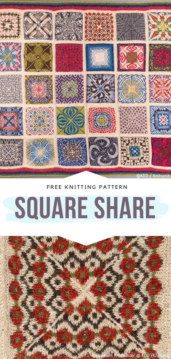 Square Share Free Knitting Pattern