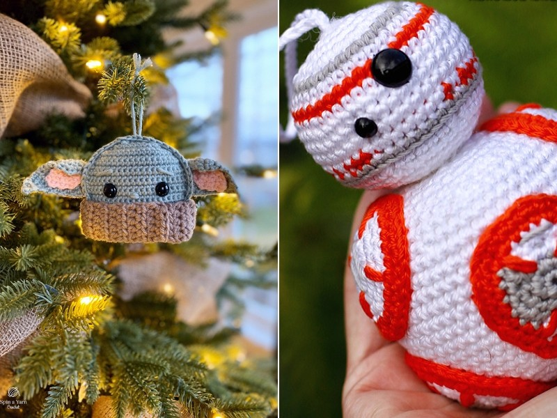 Star Wars Ornaments Free Crochet Patterns
