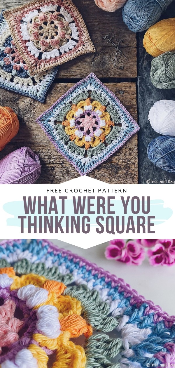 What Were You Thinking Square Free Crochet Pattern